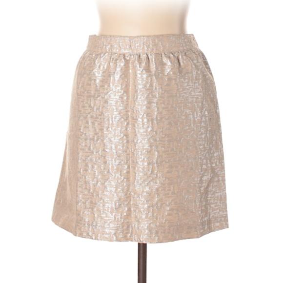 LOFT Dresses & Skirts - Ann Taylor LOFT Metallic Peach Skirt